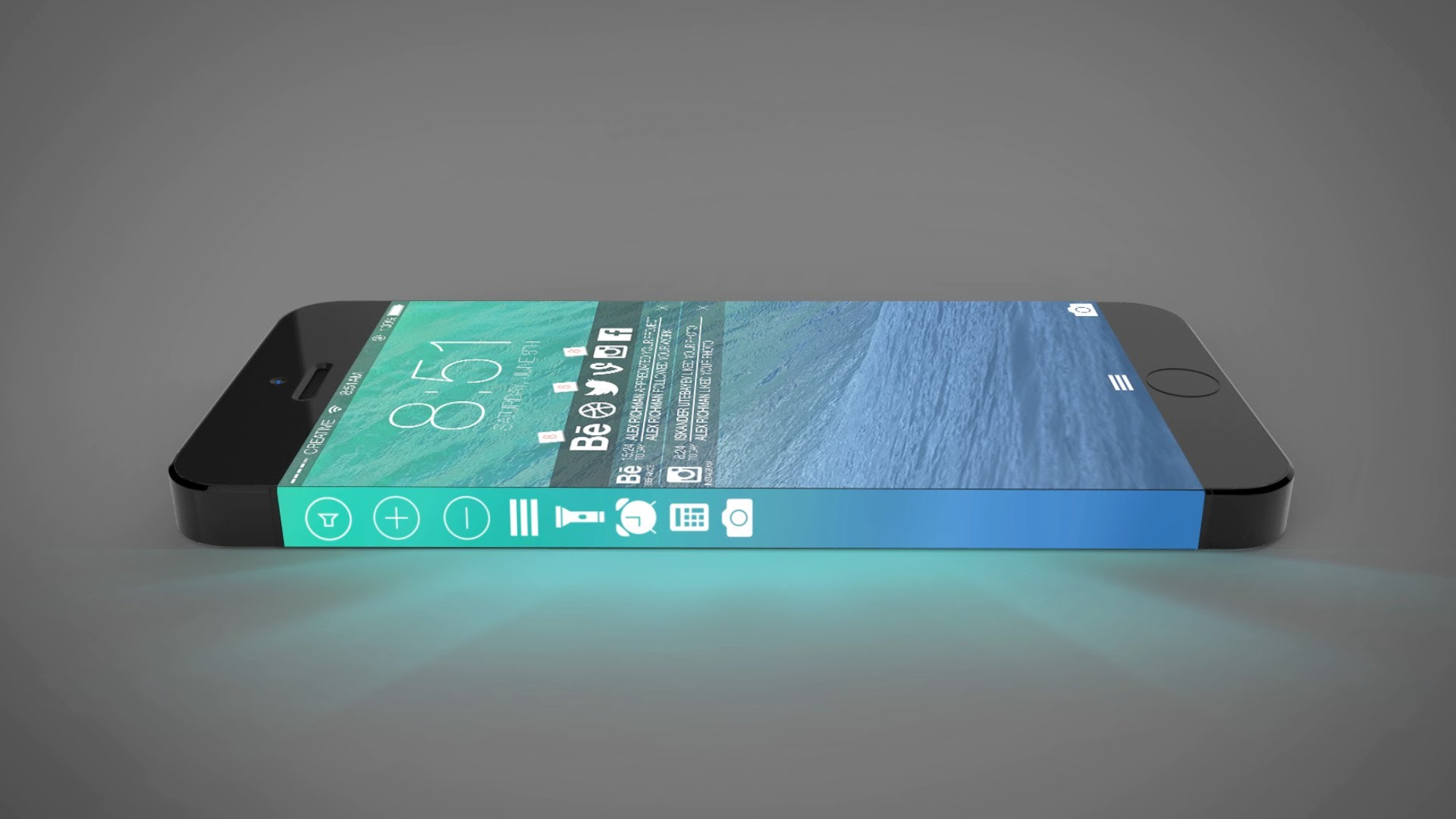 iphone 8 concept 3d display