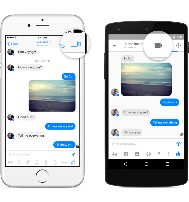 facebook messenger android ios