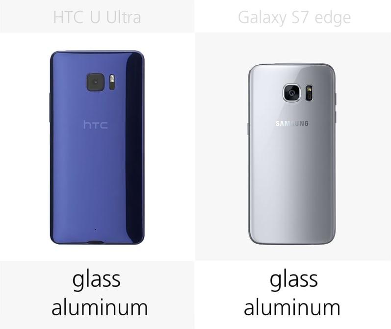 сравнение смартфонов samsung S7 Edge и HTC U Ultra: вес и габариты