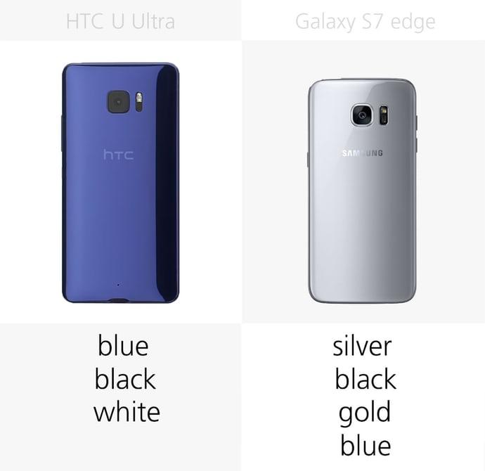 samsung s7 или HTC U Ultra: цветовые решения