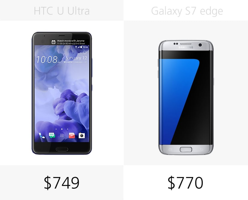 samsung s7 или HTC U Ultra: цена