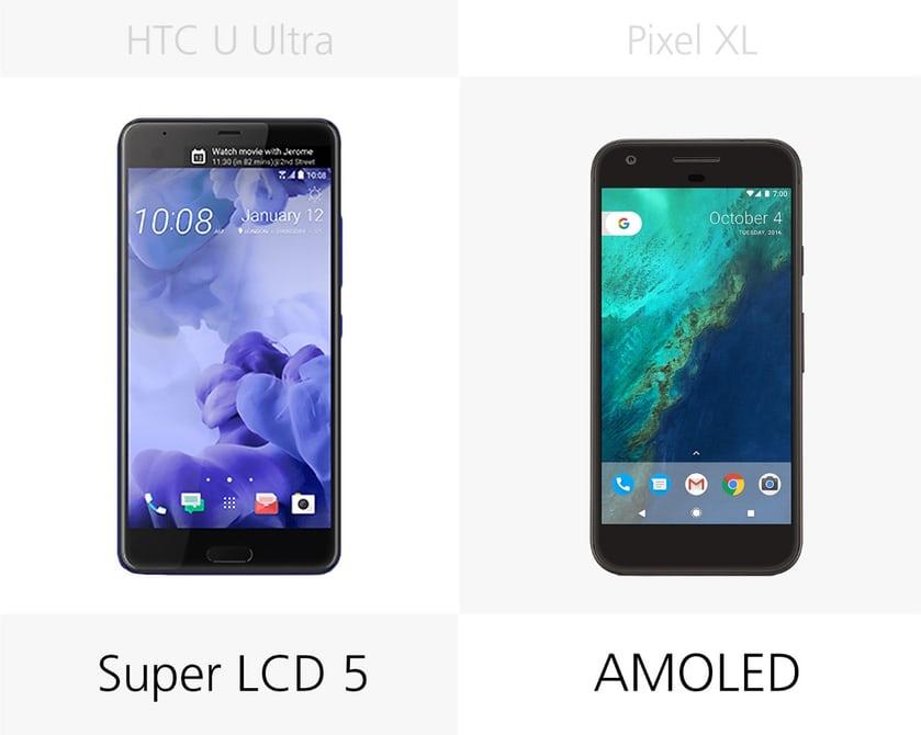 Google Pixel XL или HTC U Ultra тип дисплея