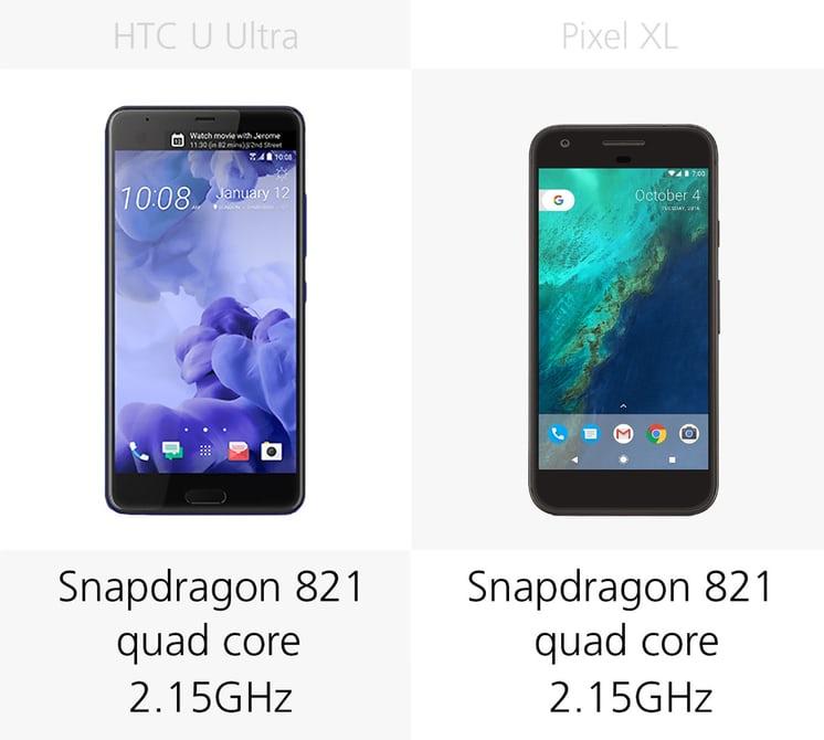 смартфон HTC U Ultra или Pixel XL что лучше по железу: процессоры