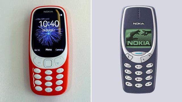 новая nokia 3310 2017 и старая версия