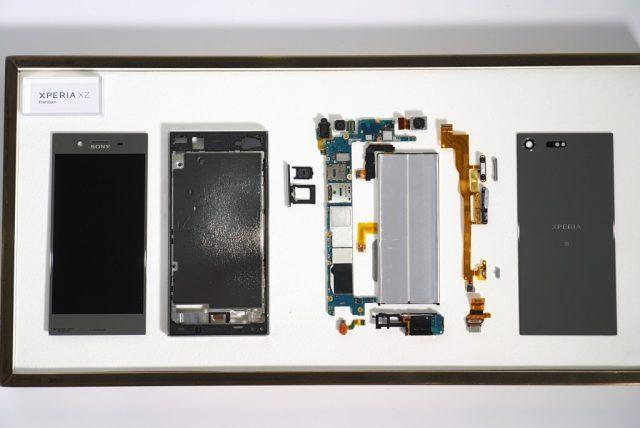 На запчасти! Xperia XZ Premium в разобранном виде. Фото
