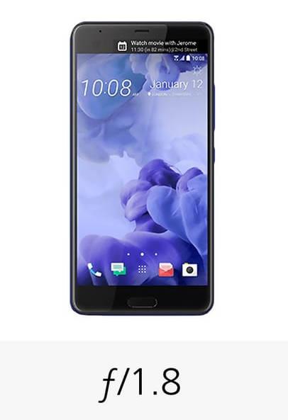 смартфон HTC U Ultra апертура камеры
