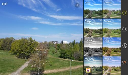 Камера Galaxy S8 фильтры