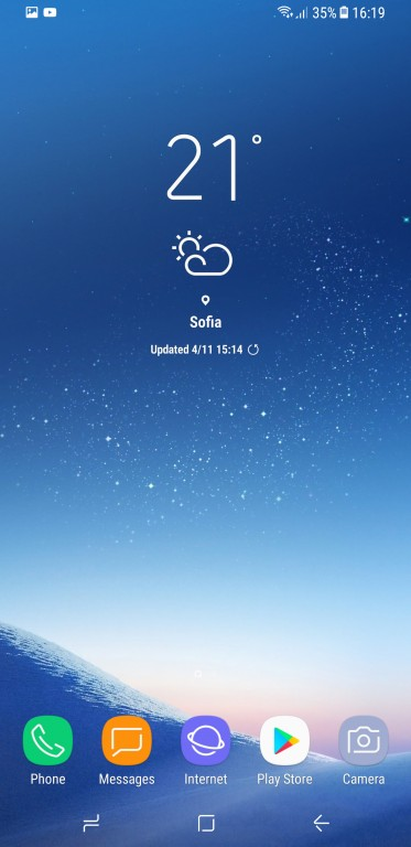 главный экран S8