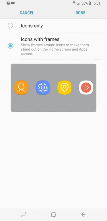 главный экран S8 иконки