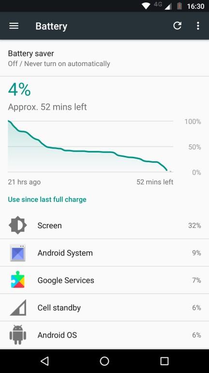 автономность Moto G5 батарея