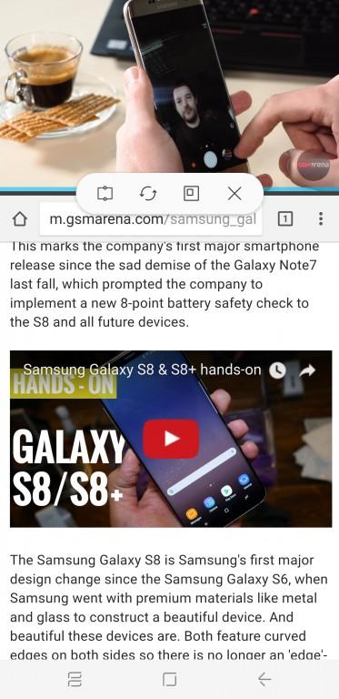 главный экран S8 многооконный режим