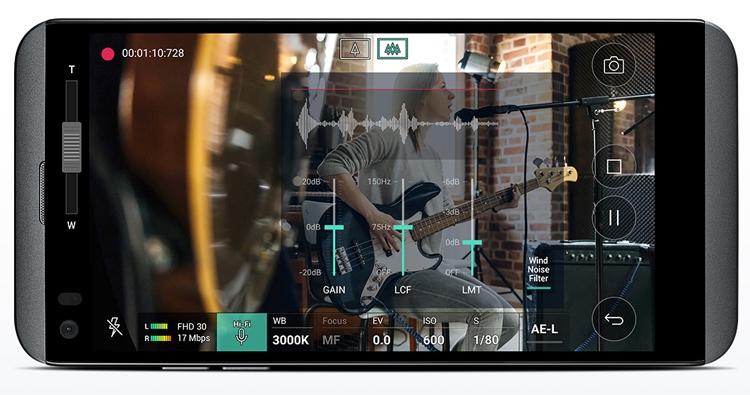 смартфон LG Q8 аудиочип