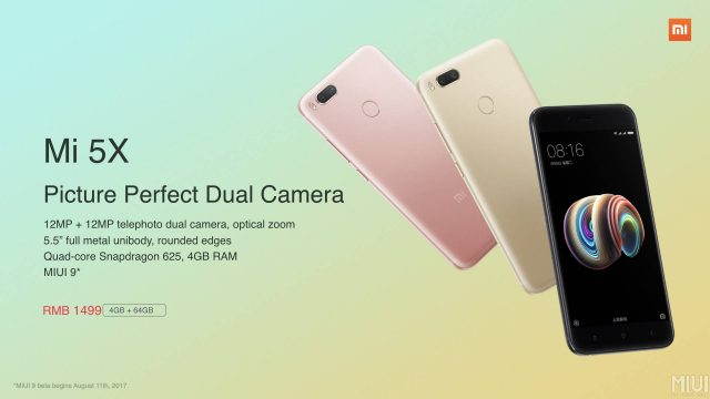 Xiaomi Mi 5x: характеристики, дата выхода и цена