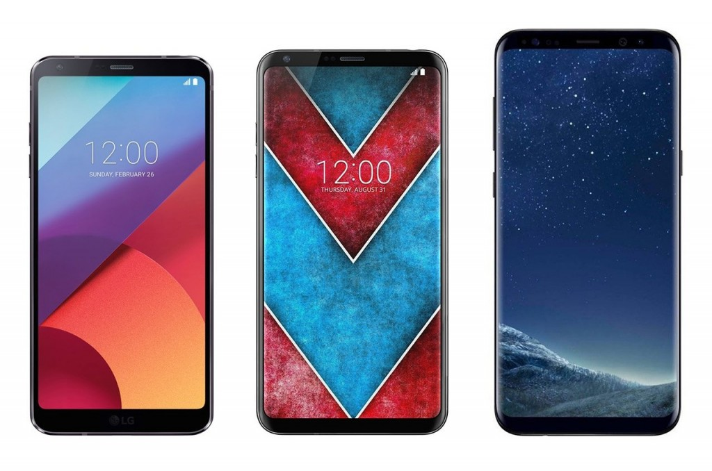 сравнение LG V30 G6 Galaxy S8