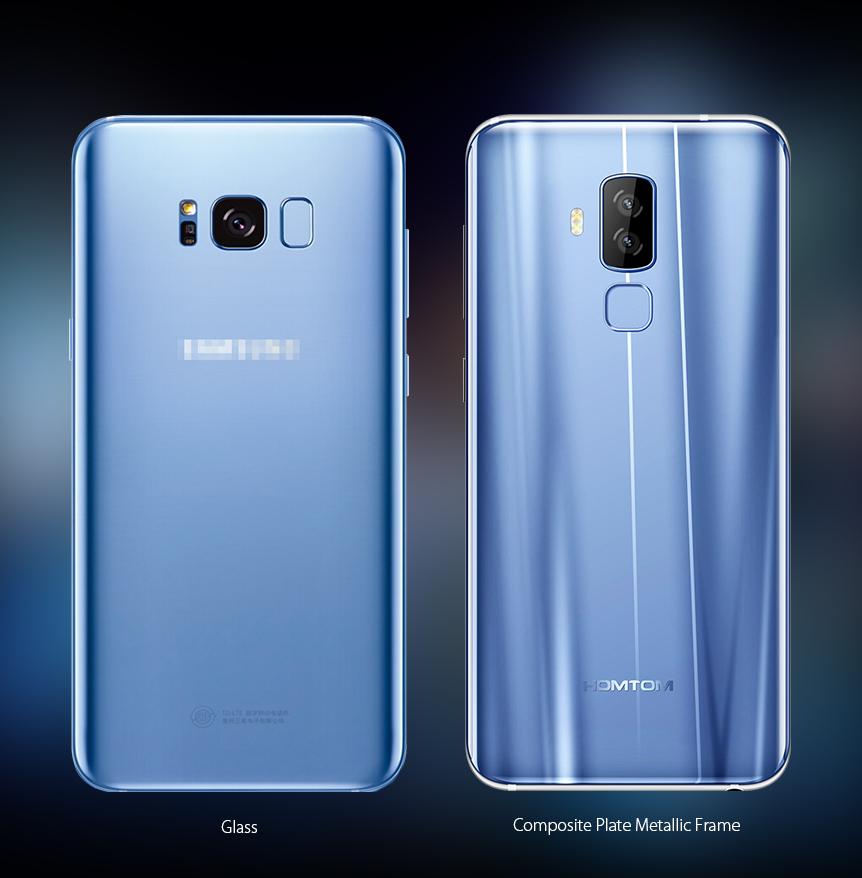 сходство Galaxy S8 и Homtom S8