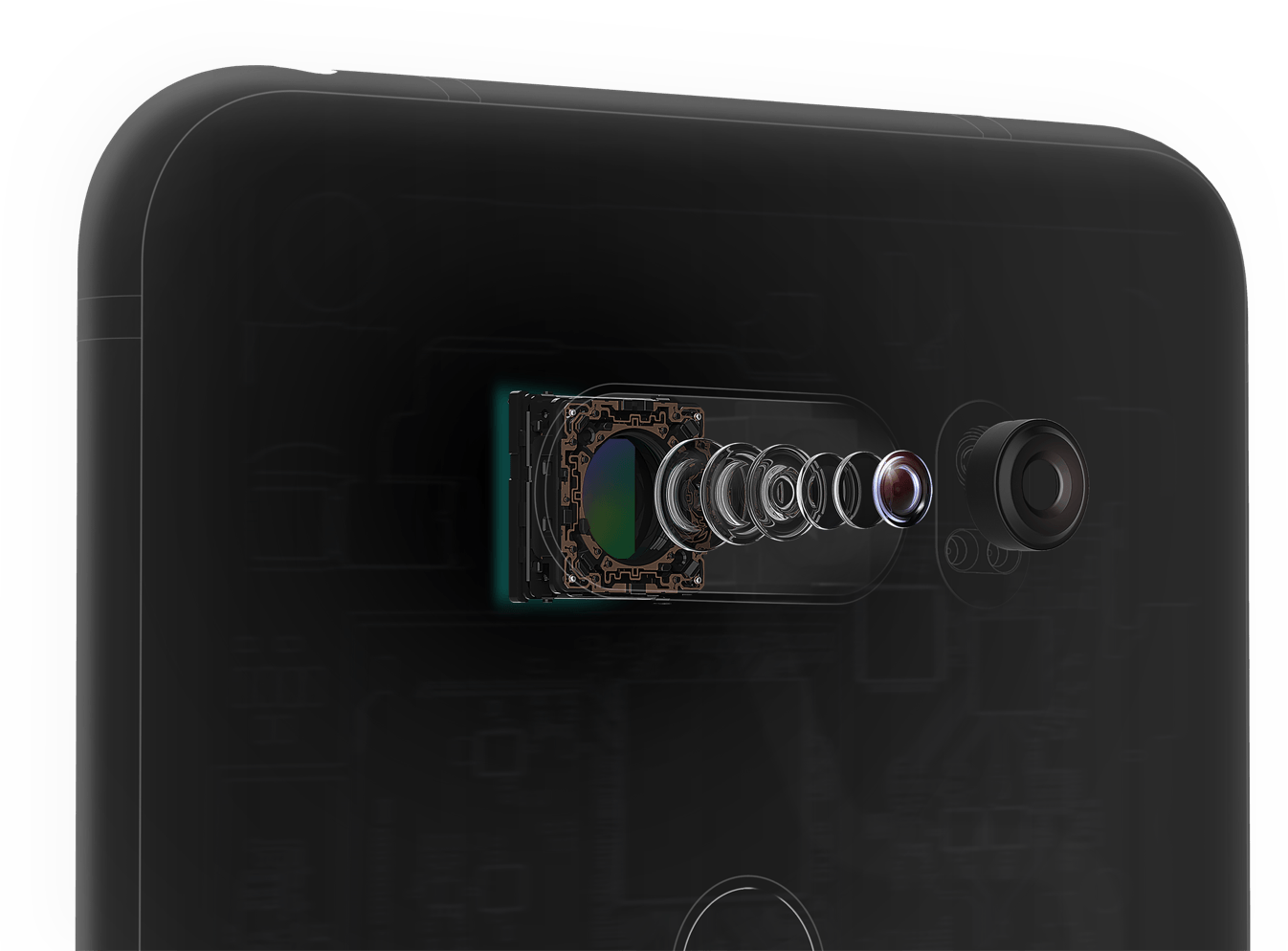 LG V30 камера линза