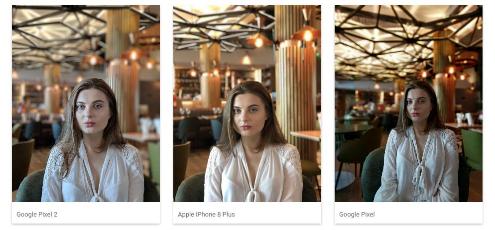 Google Pixel 2 эффект боке