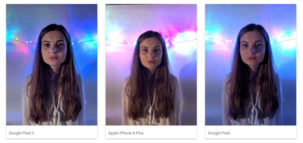 Google pixel 2 динамические сцены при слабом освещении