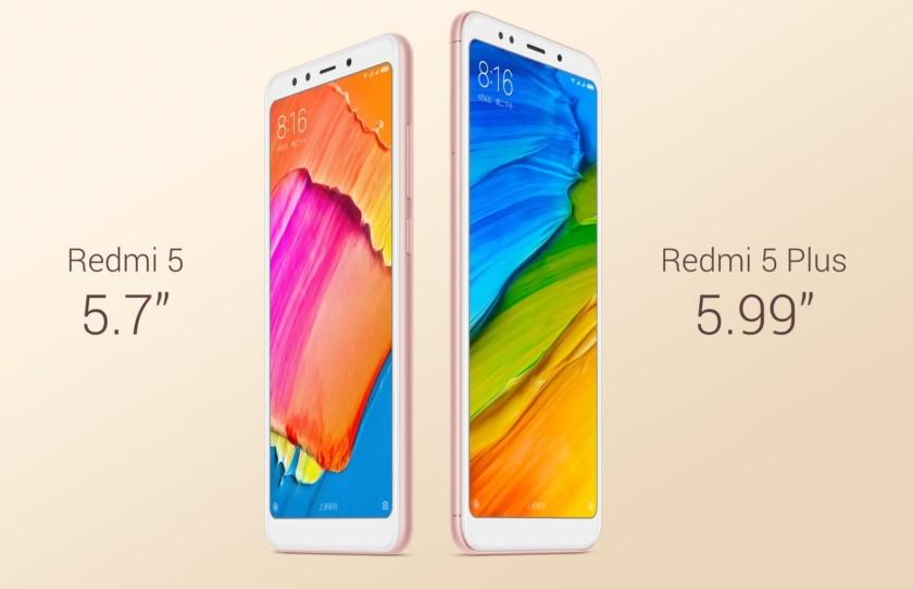 Xiaomi Redmi 5 Redmi 5 Plus обзор,
