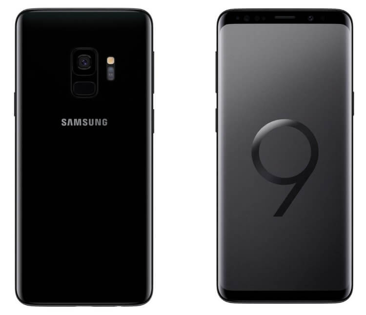 Samsung Galaxy S9 black render
