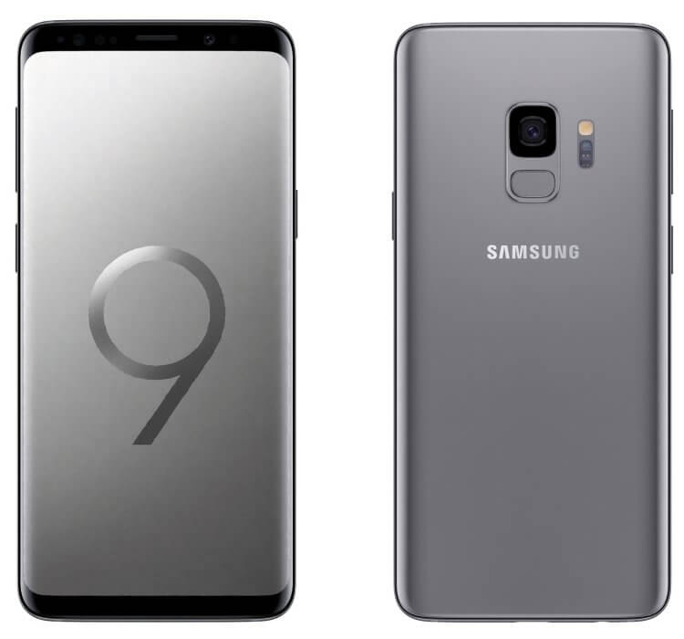 Samsung Galaxy S9 graphite render