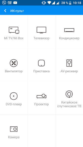 Приложение для ИК порта Mi Remote