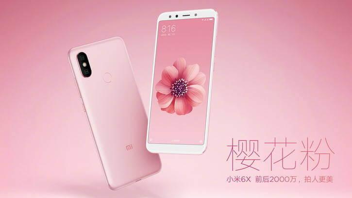 телефон Xiaomi Mi 6X дизайн