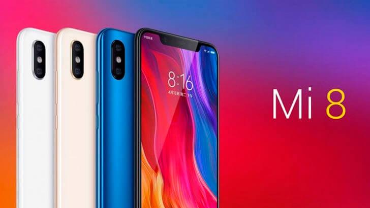 Xiaomi Mi 8 цвета