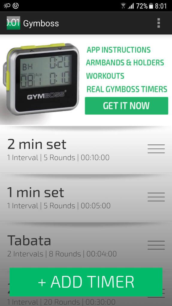приложение для тренировок