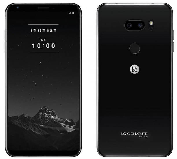 смартфон LG V35 ThinQ Signature Edition Black