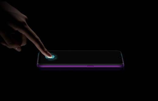 смартфон Oppo R17 Pro сканер отпечатка