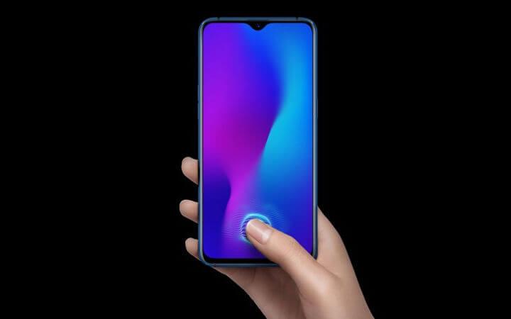 Oppo R17 сканер отпечатка пальца в экране