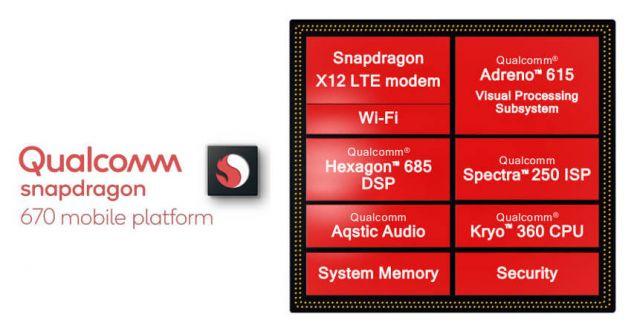 Snapdragon 670: характеристики нового процессора