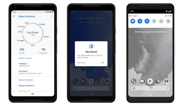 Таймер приложений Android Pie 9
