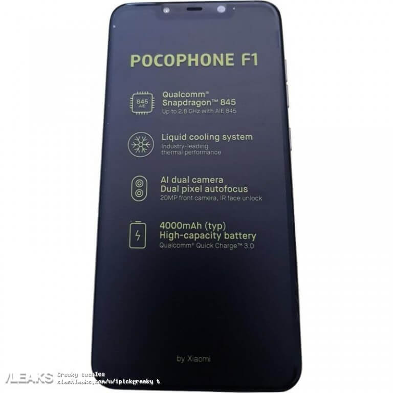 смартфон Pocophone F1: характеристики