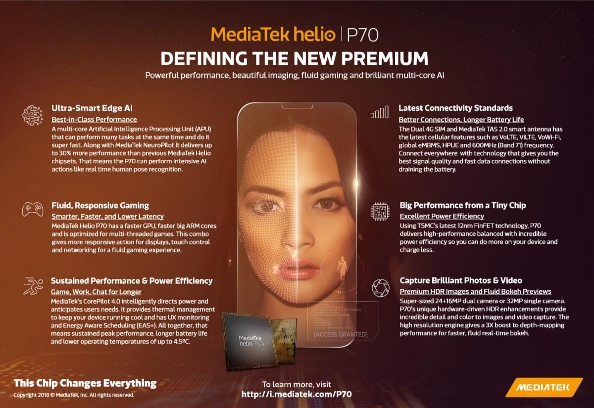 процессор MediaTek Helio P70 характеристики сравнение