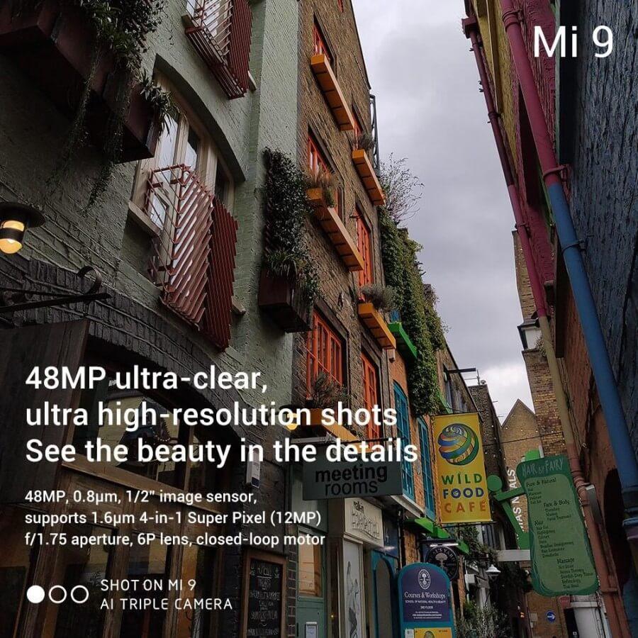 Xiaomi Mi 9 характеристики камеры