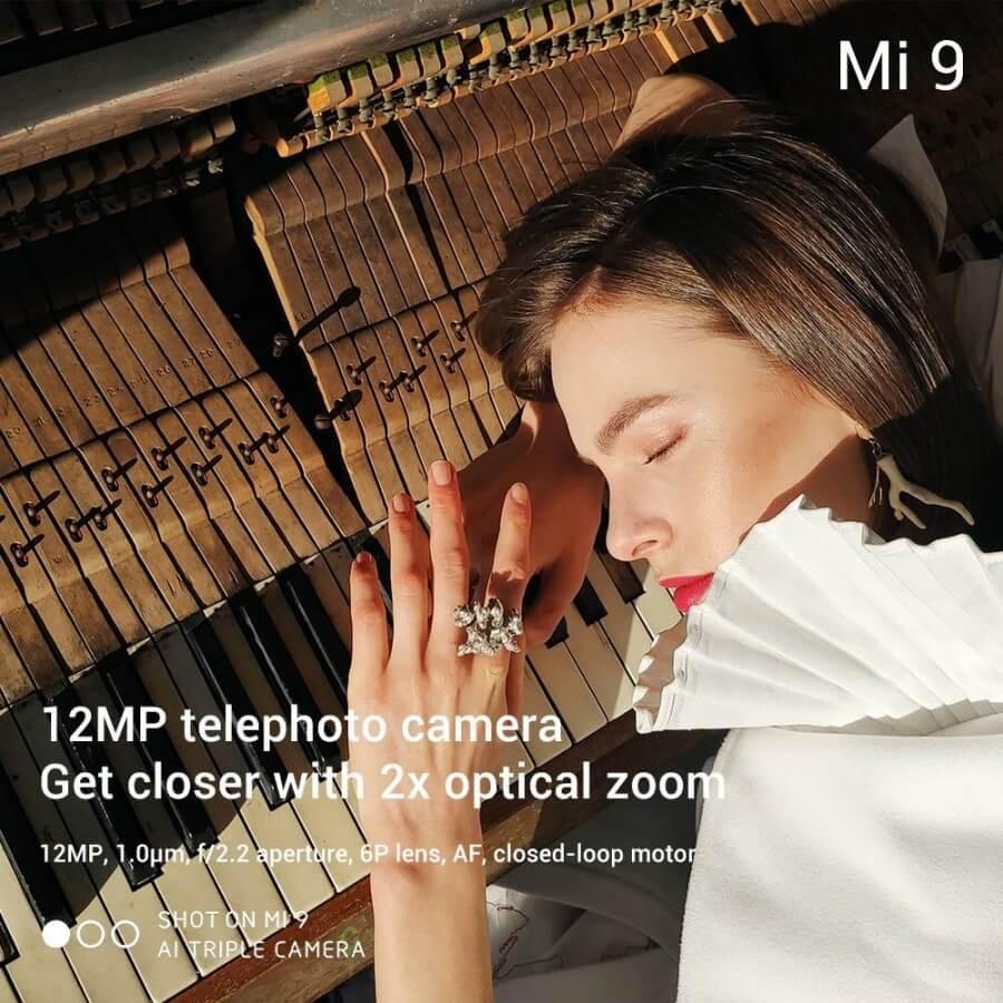 Xiaomi Mi 9 камера характеристики