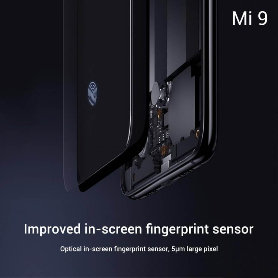 Xiaomi Mi 9 сканер отпечатка