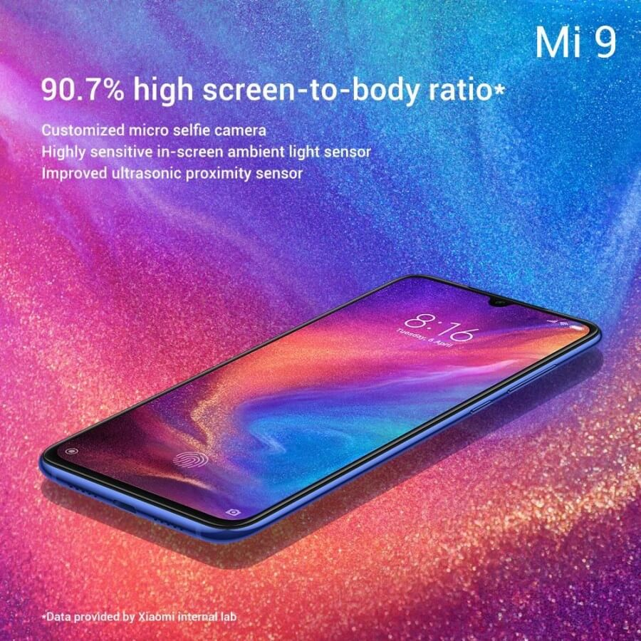 Xiaomi Mi 9 характеристики экрана