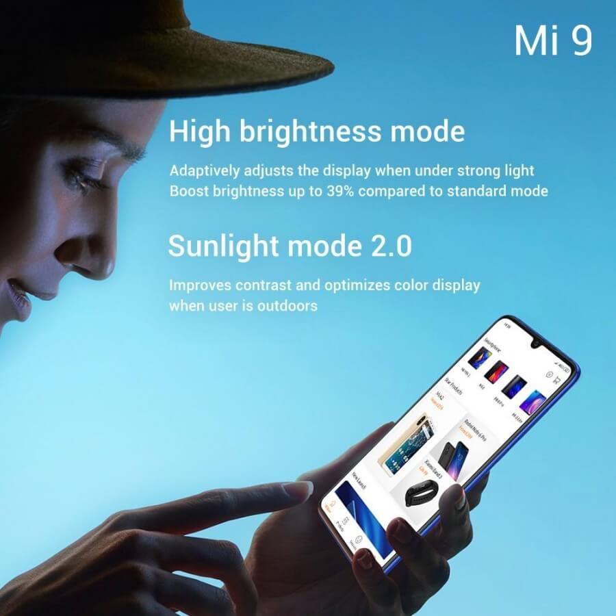 Mi 9 характеристики экрана