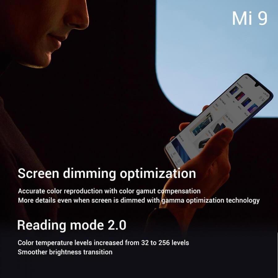 Xiaomi Mi 9 технические характеристики экрана