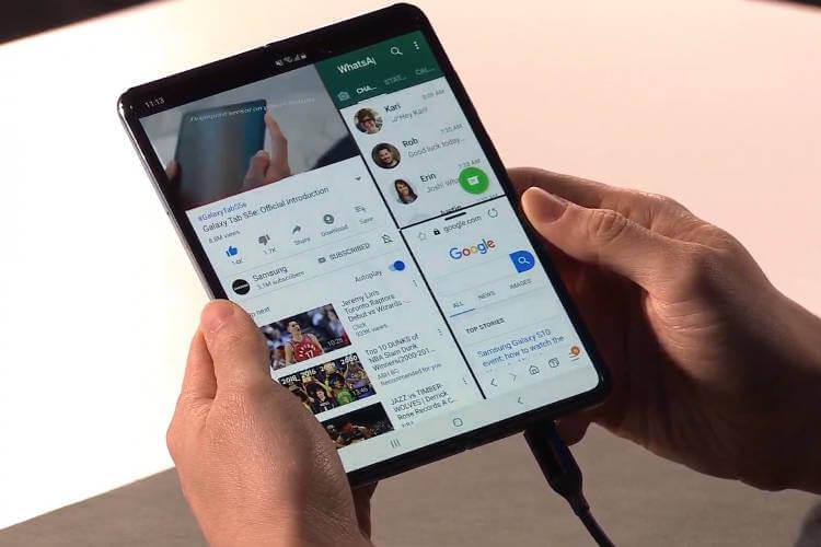 гибкий смартфон Samsung Galaxy Fold характеристики цена дата выхода