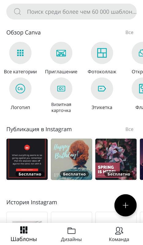 приложения для обработки фото Canva
