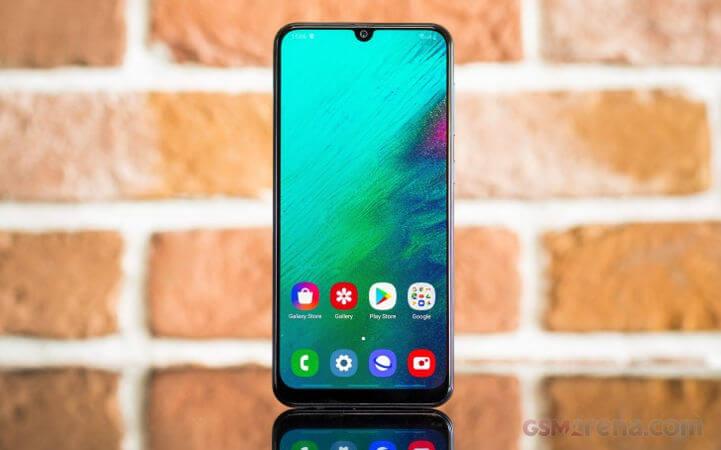 Обзор Galaxy A50, экран