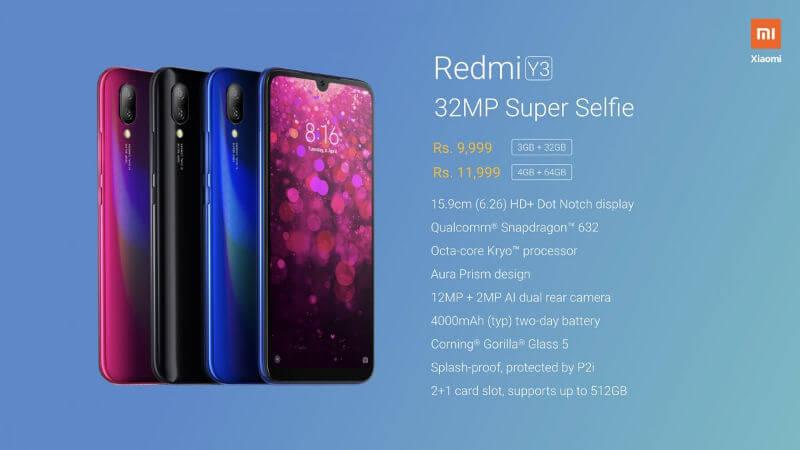 Xiaomi Redmi Y3 характеристики