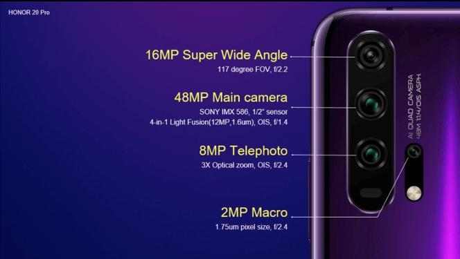 HONOR 20 Pro характеристики камеры