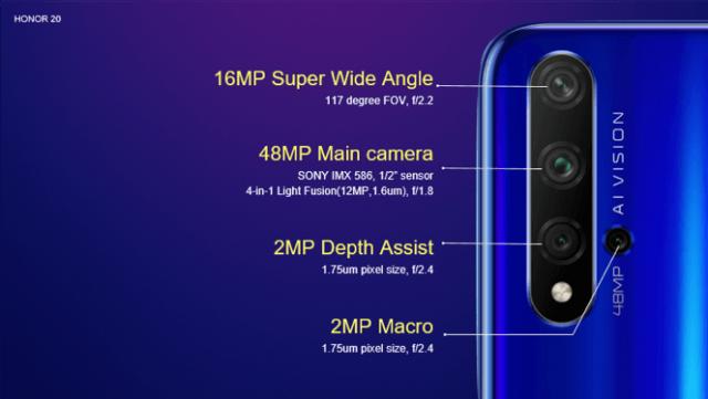 HONOR 20 характеристики камеры