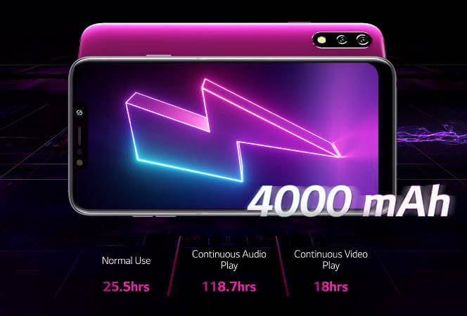 LG W10 батарея и автономность