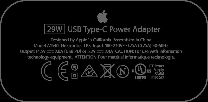 быстрая зарядка iPhone, адаптер мощностью 29 ватт